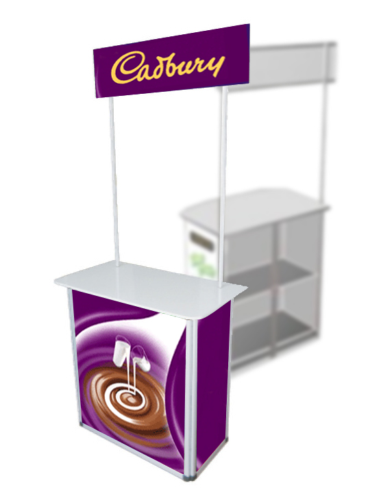 PVC Counter Booth Table Ez Display System Supply