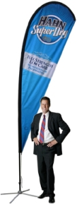 Teardrop Flag Banner Stand