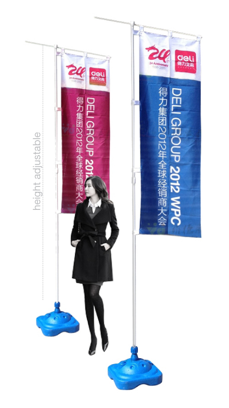 Flying Flag Banner Stand Malaysia Exhibition Booth Panel
