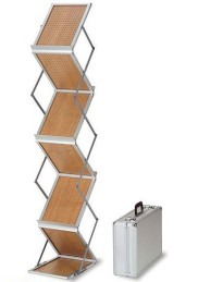 wood brochure stand